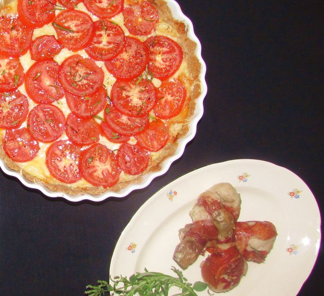 Kylling med tomattærte